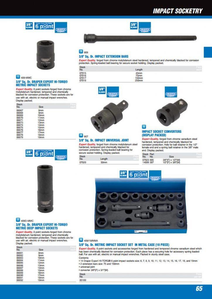 Handwerkzeuge Draper Expert 14mm 3/8